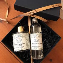 Coffret bouquet parfumé + recharge BOIS d'OLIVIER