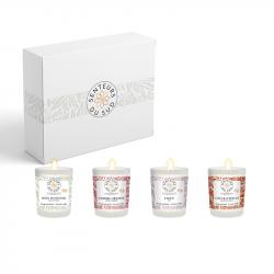 Coffret 4 bougies parfumées 75gr